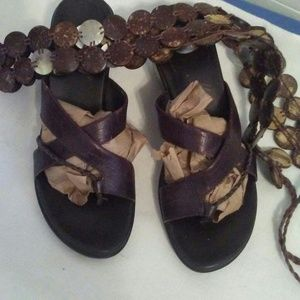 Shoes - Brown Wedge Sandal Shoe